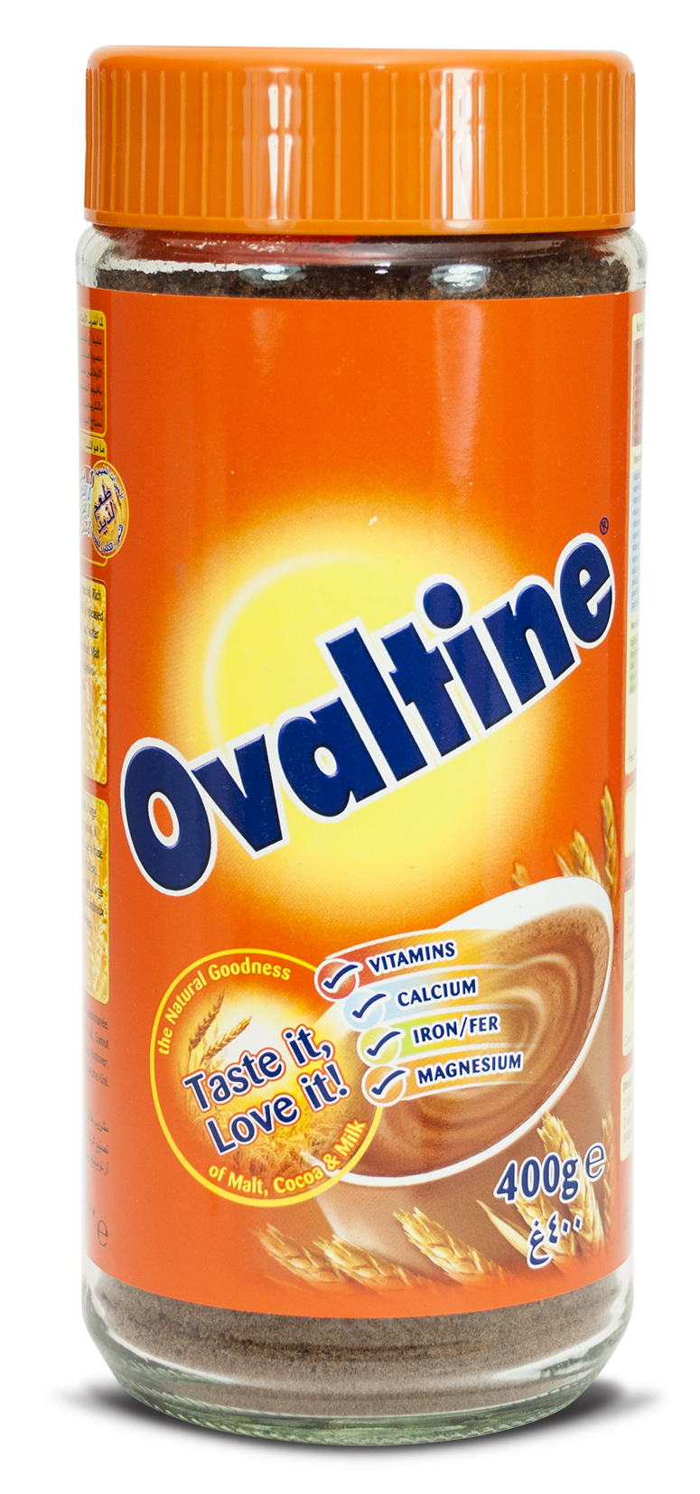 Ovaltine Glass Jar 12x400
